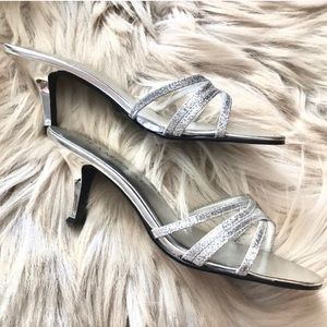 Rampage Sparkly Silver Heels ✨size 7